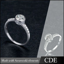 China Wholesale Silver Jewellery, CDE 925 Sterling Silver Ring