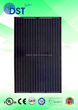 250W 260W 270W 60 cells TUV/MCS/UL/CEC/JET Taiwan 250 w 255 watts PV Black Mono Solar Panel Solar Module