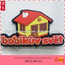 2012 Promotional Soft Rubber House Shape Key Chain