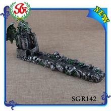 SGR142 gárgola titular palo de incienso Medieval Gothic dragón incensario escultura