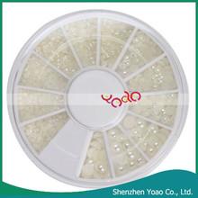Factory Direct Sale Nail Art Supplies White Pearl 3D Nail Arts Design