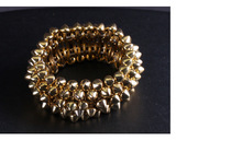Hot European and American big punk style alloy rivet personalized fashion bracelet