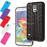 New Special Tyre Rubber Soft Gel Back Case For Samsung Galaxy S5