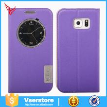 Hot selling flip leather smart case for samsung galaxy S6 edge plus,for galaxy S6 edge plus leather case