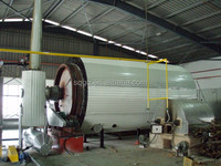 continuous waste tire scrap plastic recycling to oil pyrolysis reactor with CE & ISO