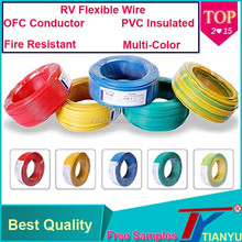 Professional Manufacture RV 0.75mm PVC Insulated OEM Electrical Wire