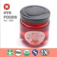 strawberry flavor honey syrup/ strawberry pulp syrup/ sugar free strawberry honey syrup/ strawberry flavour sweetener in bulk