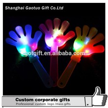 Promotional Cheering Colorful Led Flashing Plastic Hand Clapper