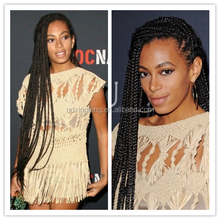 very long fashional braided remy human hair lace wigs for black women China supplier