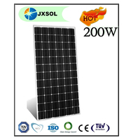 Flexible and high quality 200w mono black solar energy panels China supplier