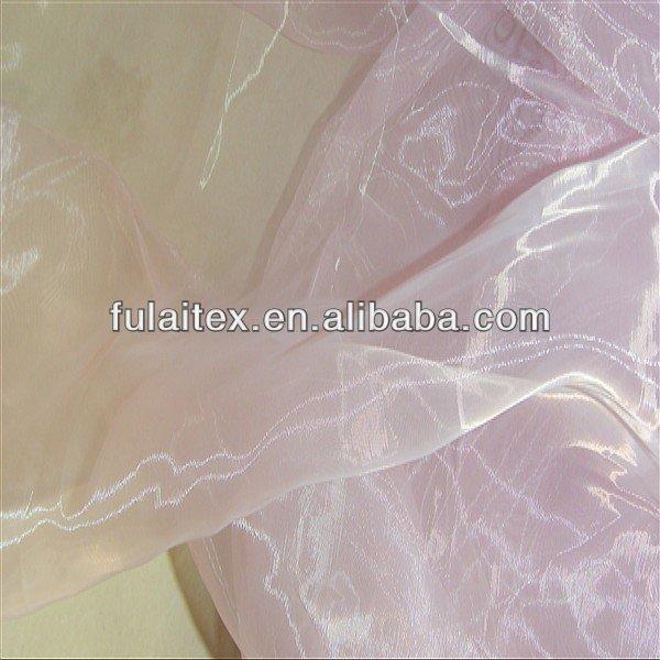 Cristal de Organza tela de la cortina