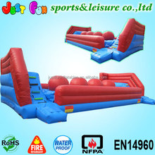 inflatable wipeout challenge for kids and adults, inflatable big baller games