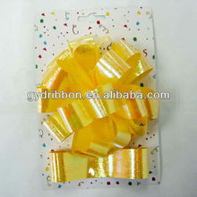 Glitter PP Ribbon Star bow and ribbon wrapping set for Holiday decoration
