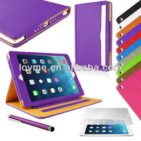 Black & Tan Leather Wallet Smart Flip Case Cover for The New iPad iPad2/3/4