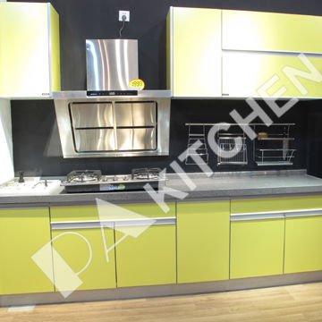 Твердой древесины кухонные шкафы-115