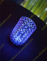 lighted crystal candle holder/crystal tealight candle holders/glass candle holder centerpieces