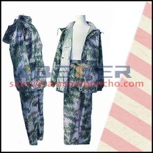 Cheap wholesale military bright in colour raincoat