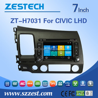 Fm radios audio multimidea in-dash car dvd player For HONDA OLD CIVIC LHD support BT Phone DTV DVR SWC