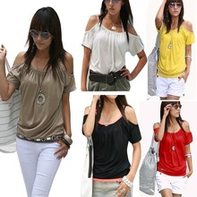 Walson Sexy Women's Girl Japan Style Hollow Shoulder sexy neck design of blouse Tops 004118
