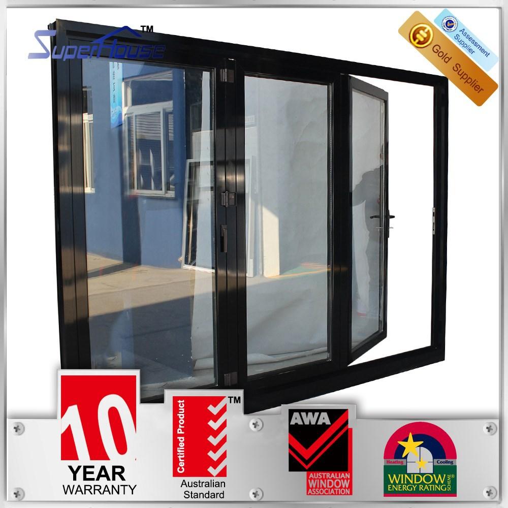 Unique low e glass folding doors interior roll up door for Exterior glass doors for sale