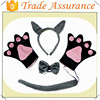 factory sale Wild Gray Wolf Headband Bow Paw Gloves Unisex Halloween Party Costume Set