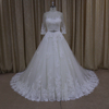2015 new model crystal beading belt plus size long sleeve wedding gowns