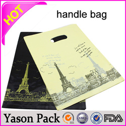 YASON shopping patch handle bagsplastic bags with handlescustomize printed plastic shopping bag with soft handle