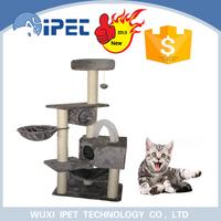 China pet cat tree hammock condo toy bed