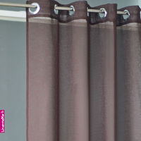 Ready made linen sheer curtain, modern window curtain design