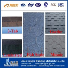 Colorful and Cheap 3-Tab Asphalt Shingle Manufacturer
