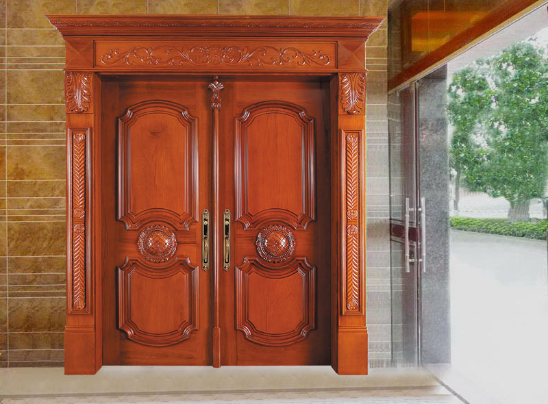 2015 new products teak wood main door designs buy teak for Front double door designs indian houses