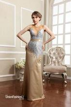 2015 de China de fábrica líder de la boda del diseño encaje tipo de falda de la flor de plata el cuerpo cerca delicada gasa Polar vestido de europa