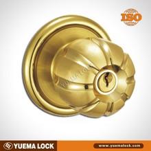 Z5887-PB Good price and high quality one side knob one side key lock cylinder