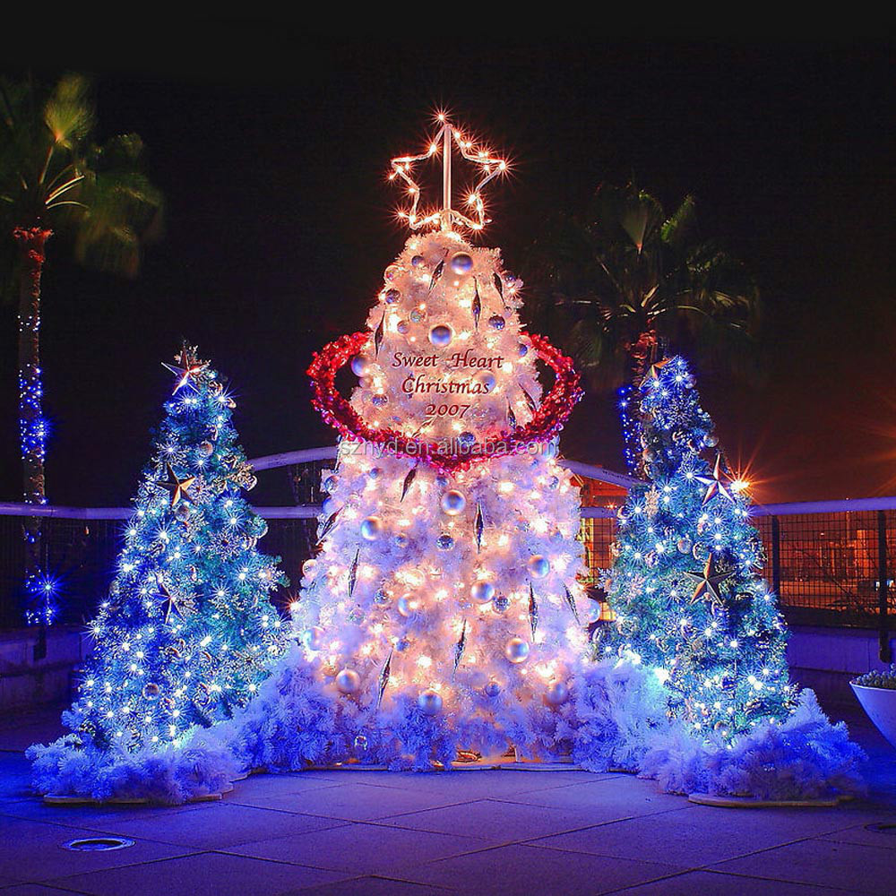 Hot sale outdoor giant led christmas tree ornament buy for Outdoor christmas tree ornaments