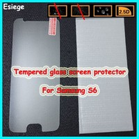 Newest!!! factory OEM ODM mobile phone accessories Anti-shock 9H Tempered Glass screen protector for Samsung galaxy s6