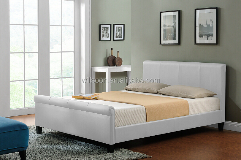 Leather Sleigh Bed Frames 812 x 539