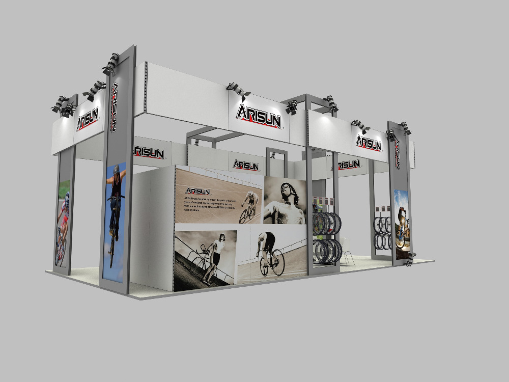 Portable Exhibition Booth Sia : Recyclable portable aluminum indoor exhibition booth stand