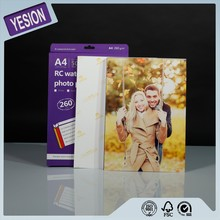 Yesion Premium A4 High Glossy Waterproof RC Inkjet Printing Photo Paper 260gsm