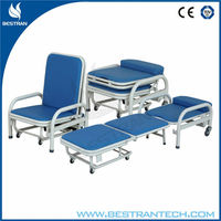 China BT-CN002 medical furniture hospital folding chair Attendant Bed medical chair reclining hospital beds