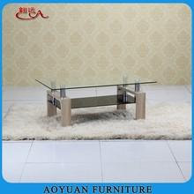 B230 modern fancy glass coffee table designs