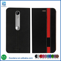 New stylish design card holder stand case For Motorola moto g 3rd gen Book stand wallet leather flip cover