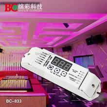 Bincolor Constant volatge DMX512 decoder DC12V led strip dmx led RGB dimmer dmx led controller 3ch