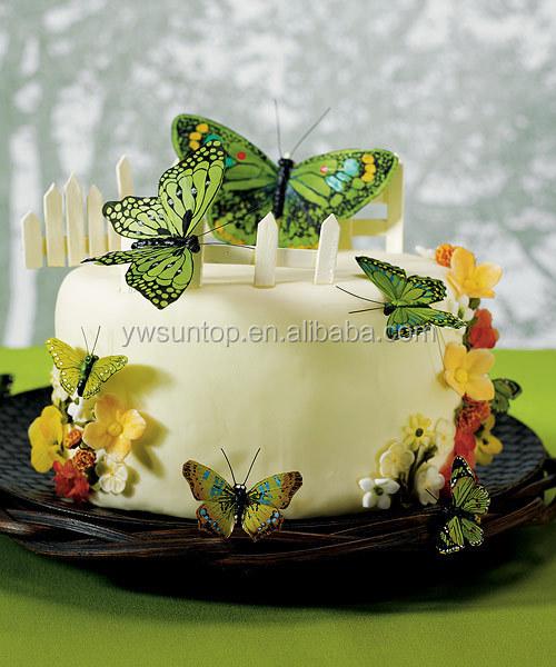 Belle papillon g teau topper d coration ensembles de - Decoration gateau papillon ...