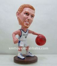 2011 resin toy bobblehead figure height 10cm light simulation gift christmas came from experience master's hand