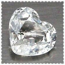 Hot Sale Heart Cut White Cubic Zirconia Precious Stone/Synthetic Cubic Zirconia Wholesale
