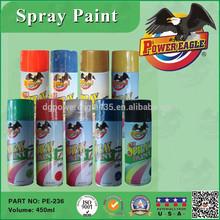 Pe efecto metálico de venta al por mayor pintura de aerosol