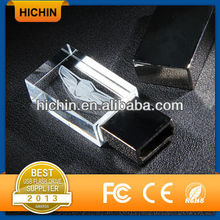 Custom logo crystal flash drive USB