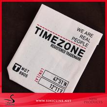 Sinicline extremo doblado logotipo personalizado impreso algodón etiqueta