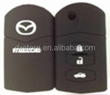 High quality 3 button flip rubber silicon key cover for Mazda M2,M3,M5,M6,M8 key case Mazda silicon key cover