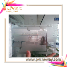 PVC material stable glass film 90 mic or 120 mic face film avaliable